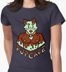 Pupcake! Mint Chocolate Chip - Logo Womens Fitted T-Shirt