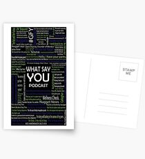 What Say You Podcast Quotes Postcards