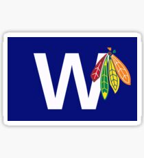 Blackhawks and Cubs Sticker