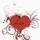 Grungy love | Red  Variation by Leisa  Hennessy