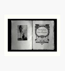 The Rubaiyat of Omar Khayyam  Art Print