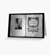 The Rubaiyat of Omar Khayyam  Greeting Card