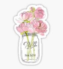 Blumen in Mason Jar Sticker