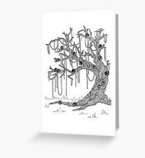 Spaghetti Tree with Meatballs Greeting Card