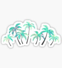 Blue palm trees Sticker