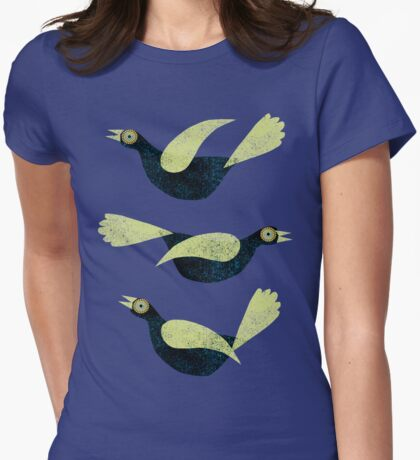 Three Blackbirds with green wings T-Shirt