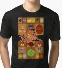 Jak and Daxter Grid Tri-blend T-Shirt