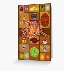 Jak and Daxter Grid Greeting Card