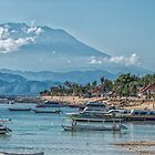 The View of Mt Agung from Nusa Lembongan by JohnKarmouche