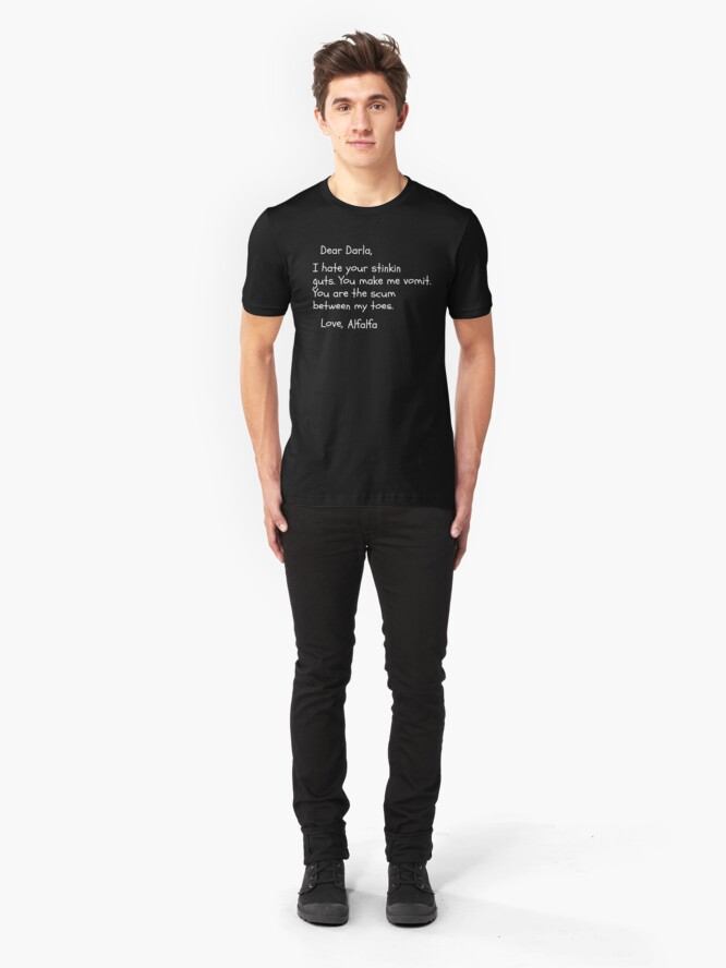 Alternate view of The Little Rascals - Dear Darla Letter Slim Fit T-Shirt