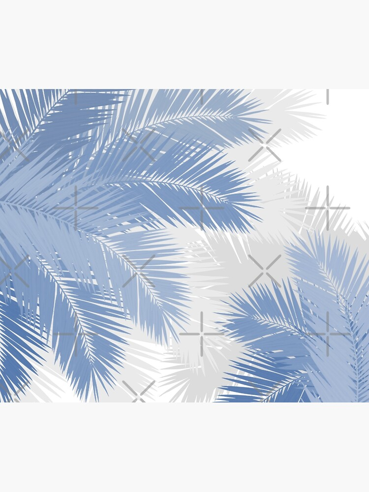 BLUE TROPICAL PALM LEAVES by AbsentisDesigns
