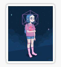 Space girl Sticker