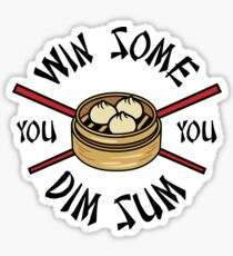 You Win Some You Dim Sum // Cute Funny Food Pattern  Sticker