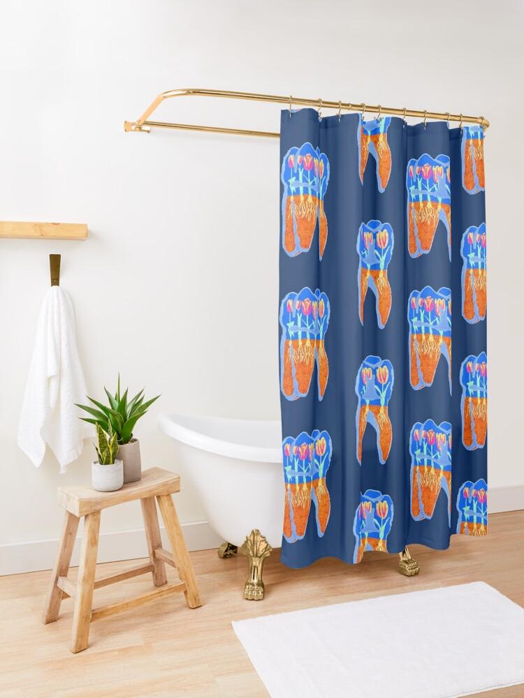 Alternate view of Tooth Terrarium 2 Shower Curtain