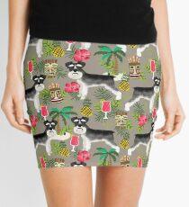 Schnauzer tiki pattern floral hibiscus floral flower pattern palm leaves by PetFriendly Mini Skirt