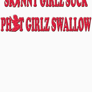 Skinny Girls Suck Phat Girls Swallow by snookchaos