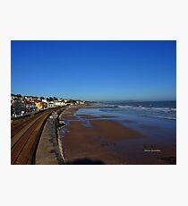 Coastal Railway, Dawlish Photographic Print