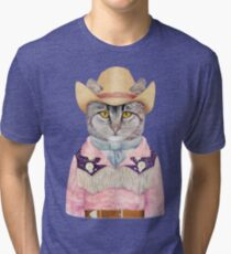 Country Cat Tri-blend T-Shirt