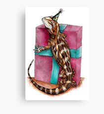 Party Reptile Canvas Print