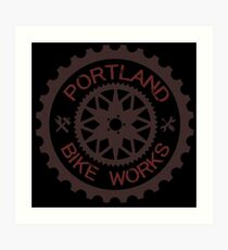 Portland Bike Works - alternate Art Print