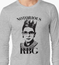 Notorious RBG Shirt  Long Sleeve T-Shirt