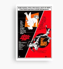 Kung Fu Double Bill Canvas Print