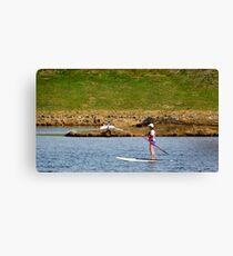 Paddleboarding on Chris Greene Lake   ^ Canvas Print