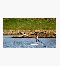 Paddleboarding on Chris Greene Lake   ^ Photographic Print