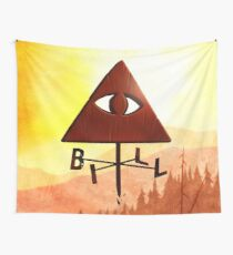 Bill Cipher Gravity Falls Weathervane Wall Tapestry