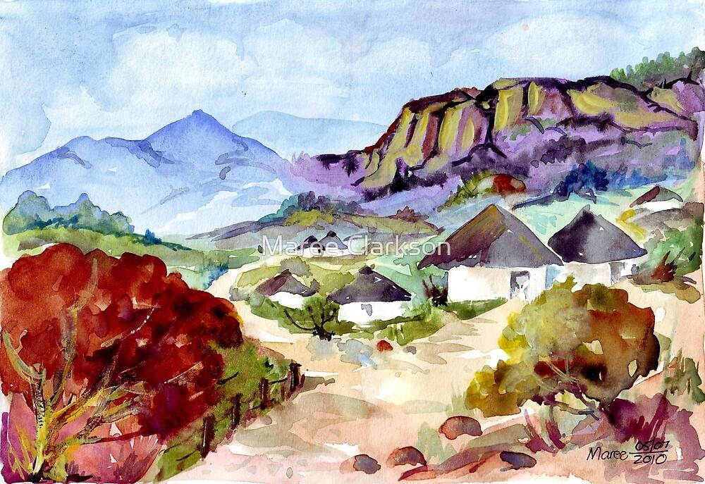Zulu Huts by Maree Clarkson