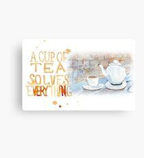 A cup of tea... Canvas Print