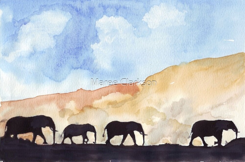 Silhouettes of Africa  by Maree Clarkson