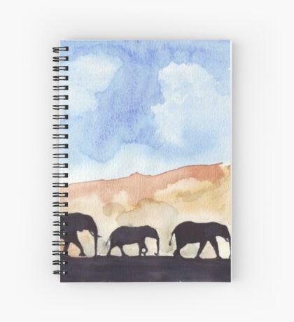 Silhouettes of Africa  Spiral Notebook