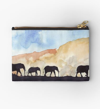 Silhouettes of Africa  Zipper Pouch