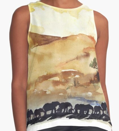 African Silhouettes Sleeveless Top