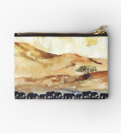 African Silhouettes Zipper Pouch