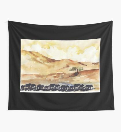 African Silhouettes Wall Tapestry