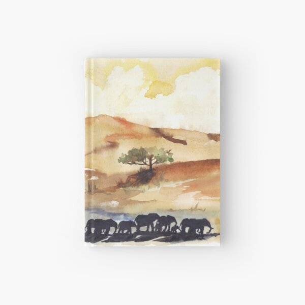 African Silhouettes Hardcover Journal