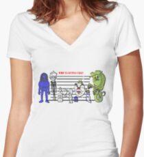 Bustin' Makes Me Feel Good Women's Fitted V-Neck T-Shirt