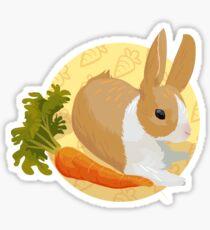 Carrot bun Sticker