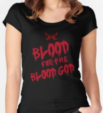 Khorne Chaos God Graffetti - Blood for the Blood God Women's Fitted Scoop T-Shirt