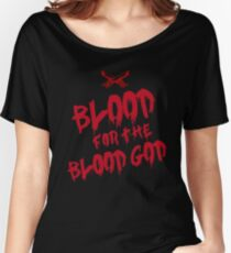 Khorne Chaos God Graffetti - Blood for the Blood God Women's Relaxed Fit T-Shirt