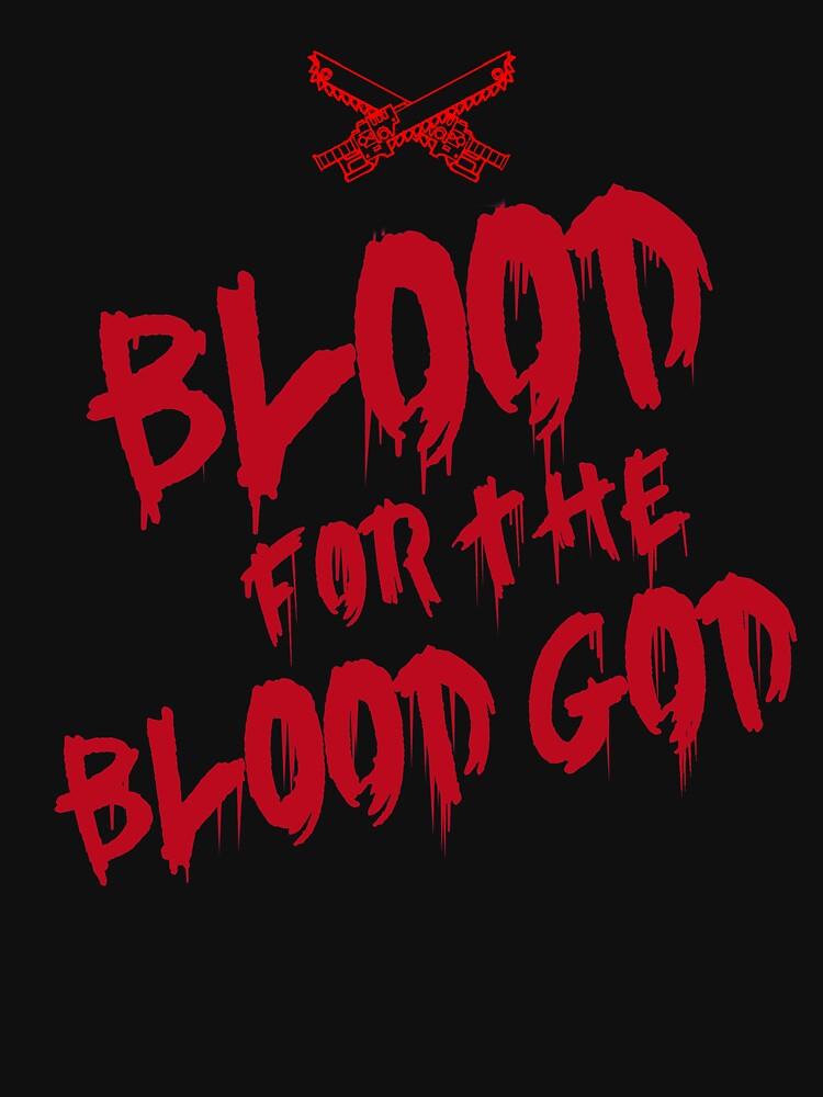 Khorne Chaos God Graffetti - Blood for the Blood God by ScapegoatPrints
