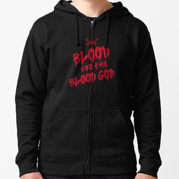 Khorne Chaos God Graffetti - Blood for the Blood God Zipped Hoodie