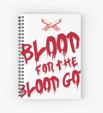 Khorne Chaos God Graffetti - Blood for the Blood God Spiral Notebook