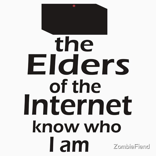 TShirtGifter presents: The Elders of the Internet know who I am | Unisex T-Shirt