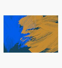 Blue & Yellow Photographic Print