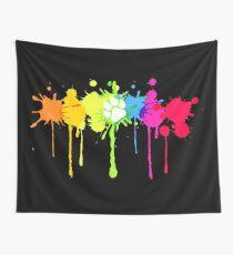 Puppy Pride Splash Rainbow Wall Tapestry