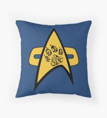 Pup Trek (Science) Throw Pillow