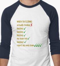 Feeding League of Legends Men's Baseball ¾ T-Shirt